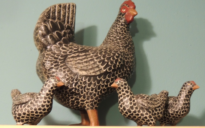 Mama and her chicks. Made by Pat Croy.
